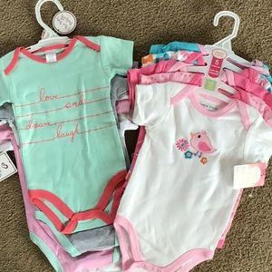 Other - New with tags baby girl onesies. 6-9 months.